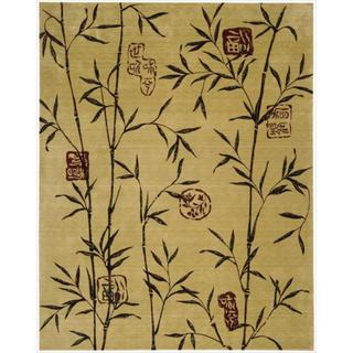 Chambord Asian Bamboo Gold Rug (7'9 x 10'10)
