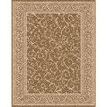 "Casual Woven Indoor/Outdoor Meadow Lt Brown/Beige Patio Rug (5'3"" x 7'6"")"