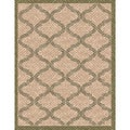 Woven Indoor/ Outdoor Bombay Beige/ Green Patio Rug (5'3 x 7'6)