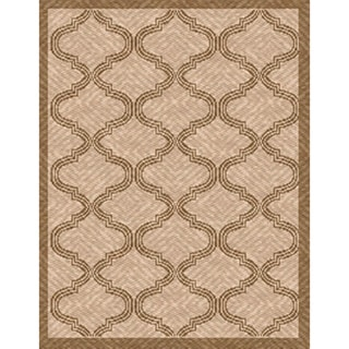 Woven Indoor/ Outdoor Bombay Beige/ Lt Brown Patio Rug (5'3 x 7'6)
