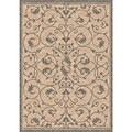 Woven Indoor/ Outdoor Antibes Beige/ Grey Patio Rug (6'7 x 9'6)