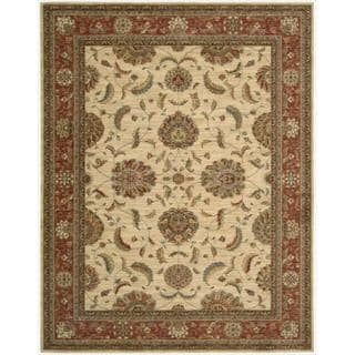 Living Treasures Ivory Red Rug (8'3 x 11'3)