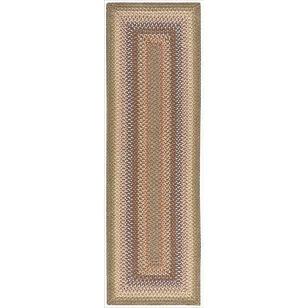 Handwoven Craftworks Braided Autumn Multi Color Runner Rug (2'3 x 7')