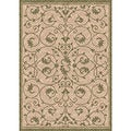Woven Indoor/ Outdoor Antibes Beige/ Green Patio Rug (5'3 x 7'6)