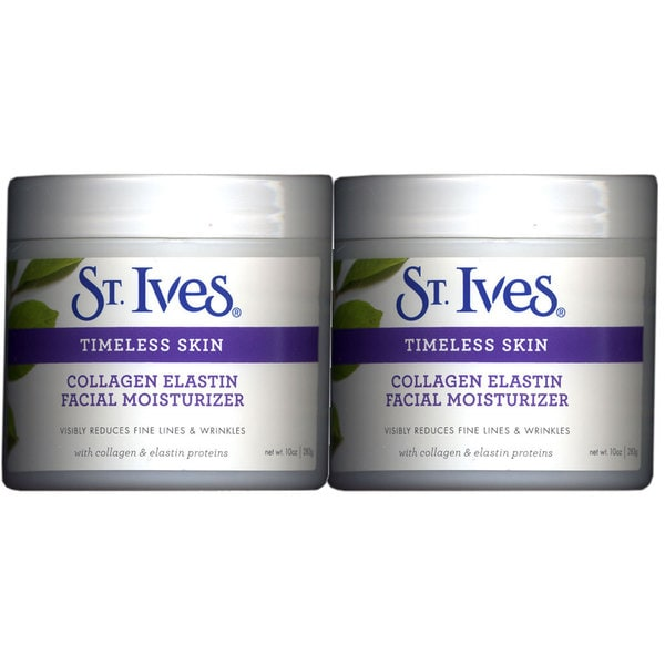 St. Ives Timeless Skin Collagen Elastin 10-ounce Facial Moisturizer (Pack of 2)