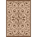 Woven Indoor/ Outdoor Antibes Beige/ Brown Patio Rug (5'3 x 7'6)