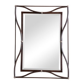 Thierry Double Scratched Bronze Framed Beveled Mirror