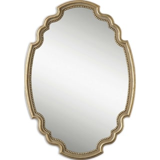 Terelle Antiqued Gold Bead Framed Mirror
