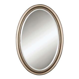 Uttermost Petite Manhattan Champagne Silver Leaf Oval Mirror