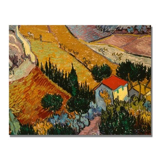 Vincent Van Gogh 'Landscape with House' Canvas Art