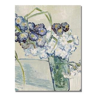 Vincent Van Gogh 'Still Life Vase of Carnations' Canvas Art