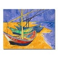 Vincent Van Gogh 'Fishing Boats on the Beach' Canvas Art