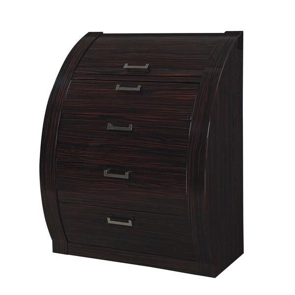 Madison Zebrano Wood Veneer 4-drawer Chest