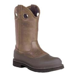 Men's Georgia Boot G55 12in Pull On Mud Dog Comfort Core Tan Cheyenne Full Grain Leather