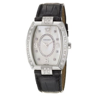 Concord Women's 'La Scala' Stainless Steel Diamond-accented Swiss Quartz Watch