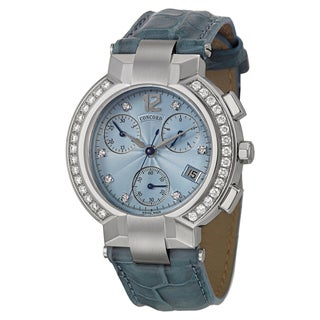 Concord Women's 'La Scala' Steel Diamond-accented Chronograph Watch