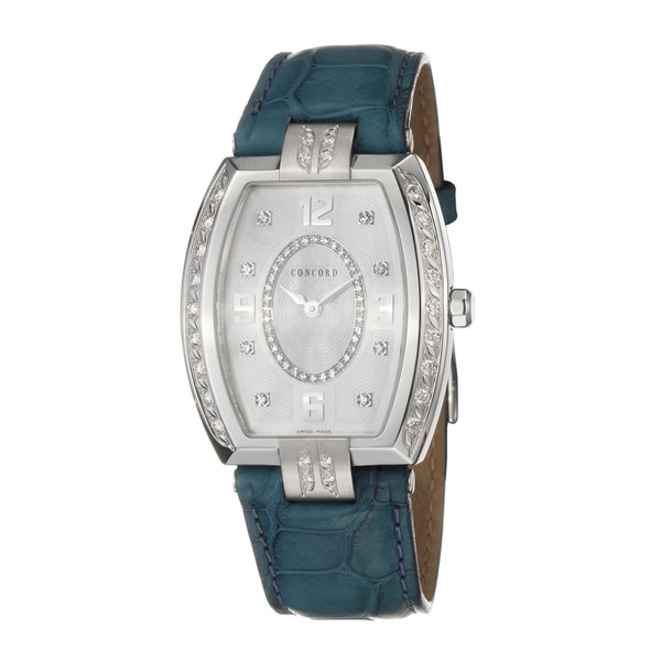 Concord Women's 'La Scala' Stainless-Steel Steel Diamond-Accented Swiss Quartz Watch
