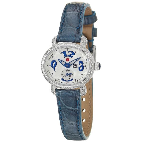 Michele Women's 'CSX' Stainless Steel and Diamonds Quartz Watch