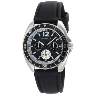 Nautica Men's Sport Ring Box Set N09910G Black Resin Quartz Black Dial Watch