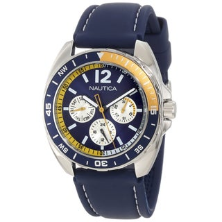 Nautica Men's Sport Ring N09915G Blue Resin Quartz Blue Dial Watch