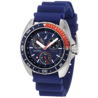 Nautica Men's Sport Ring N07578G Blue Resin Analog Quartz Blue Dial Watch