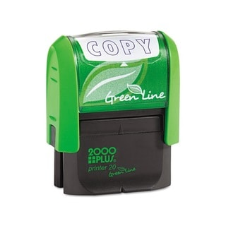 AccuStamp 2000 PLUS Green Line 'Copy' Message Stamp (Blue)