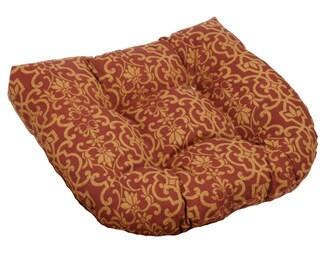 Blazing Needles 19-inch U-shaped Spun Poly Outdoor Chair/ Rocker Cushion