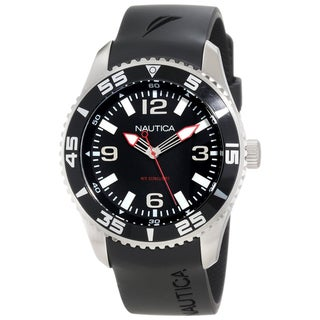 Nautica Men's N11562G Black Nylon Quartz Black Dial Watch
