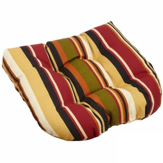 Blazing Needles 19-inch Spun Polyester Tufted Outdoor Chair/ Rocker Cushion