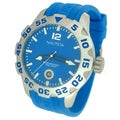 Nautica Men's BFD 100 Date N14602G Blue Resin Quartz Blue Dial Watch