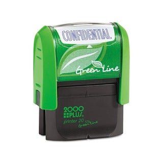 AccuStamp 2000 PLUS Green Line 'Confidential' Message Stamp (Blue)