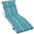 Blazing Needles 72-inch Spun Poly Outdoor Chaise Lounge Cushion