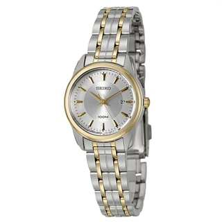 Seiko Women's 'Bracelet' Stainless Steel and Yellow Goldplated Quartz Watch