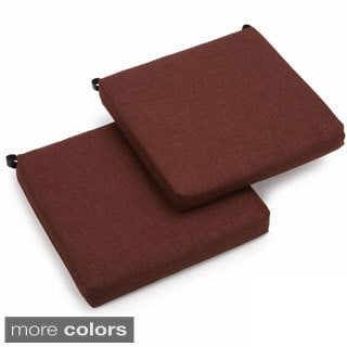 Blazing Needles Solid 19-inch Square Spun Poly Outdoor Cushions (Set of 2)