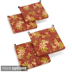 Blazing Needles Print 19-inch Square Spun Poly Outdoor Cushions (Set of 4)