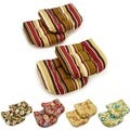 Blazing Needles 19-inch Spun Polyester Patterned Chair/ Rocker Outdoor Cushions (Set of 4)