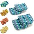 Blazing Needles 19-inch U-shape Spun Poly Chair/ Rocker Outdoor Cushions (Set of 4)
