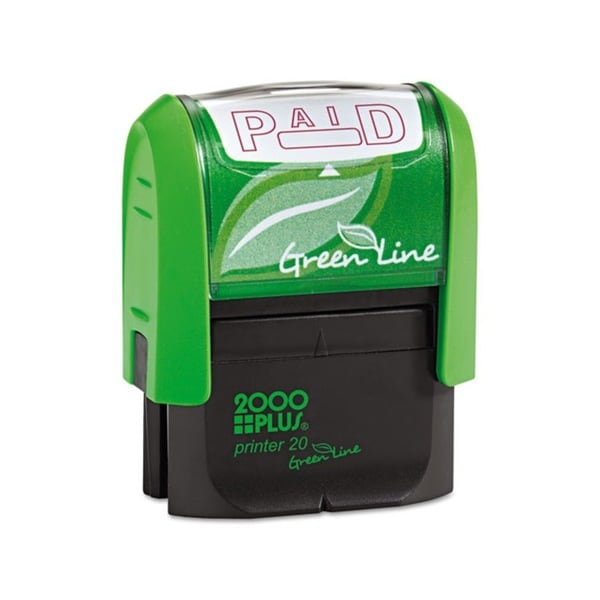 AccuStamp 2000 PLUS Green Line 'Paid' Message Stamp