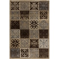 "Brown/ Khaki Olefin Rug (5'3"" x 7'6"")"