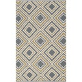 Hand-woven Golden Yellow Wool Rug (8' x 11')