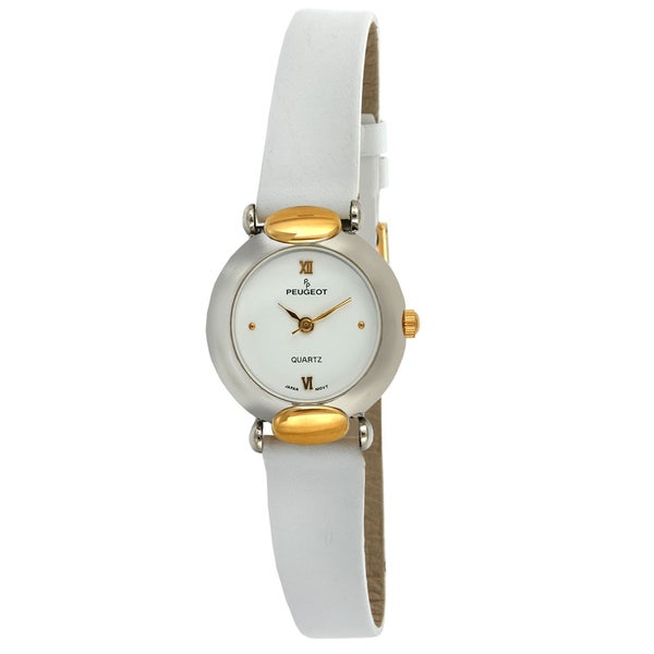 Peugeot Vintage 380-21 Two-tone White Leather Watch