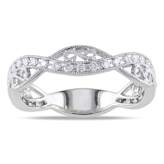 14k White Gold 1/3ct TDW Diamond Band Ring (G-H, SI1-SI2)