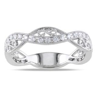 14k White Gold 1/3ct TDW Diamond Band Ring (G-H, SI1-SI2)