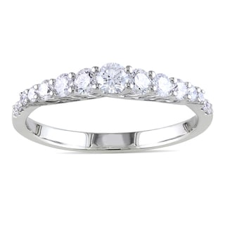 Miadora 14k White Gold 3/5ct TDW Diamond Anniversary Ring (G-H, SI1-SI2)