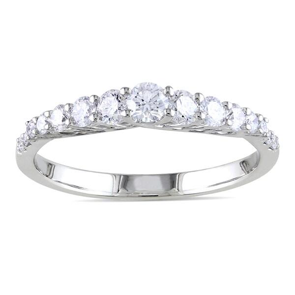 Miadora 14k White Gold 3/5ct TDW Diamond Anniversary Ring (G-H, SI1-SI2)
