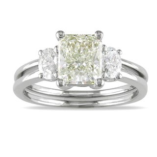 14k White Gold 1 7/8ct TDW Certified Diamond Engagement Ring (J, SI1)
