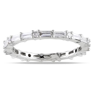 New! 14k White Gold 5/8ct TDW Diamond Eternity Ring (G-H, SI1-SI2)