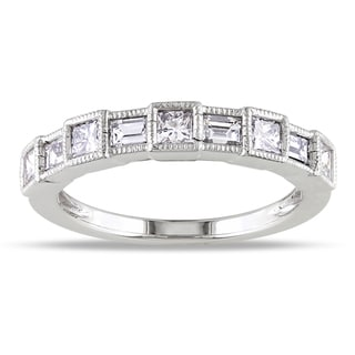 Miadora 14k White Gold 7/8ct TDW Diamond Ring (G-H, I1-I2)