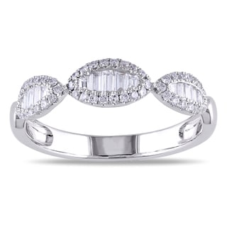 Miadora 18k White Gold 2/5ct TDW Diamond Ring (G-H, SI1-SI2)