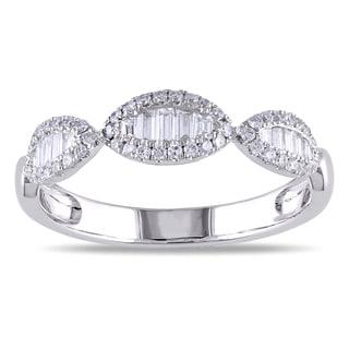 Miadora 18k White Gold 2/5ct TDW Diamond Ring (G-H, SI1-SI2)